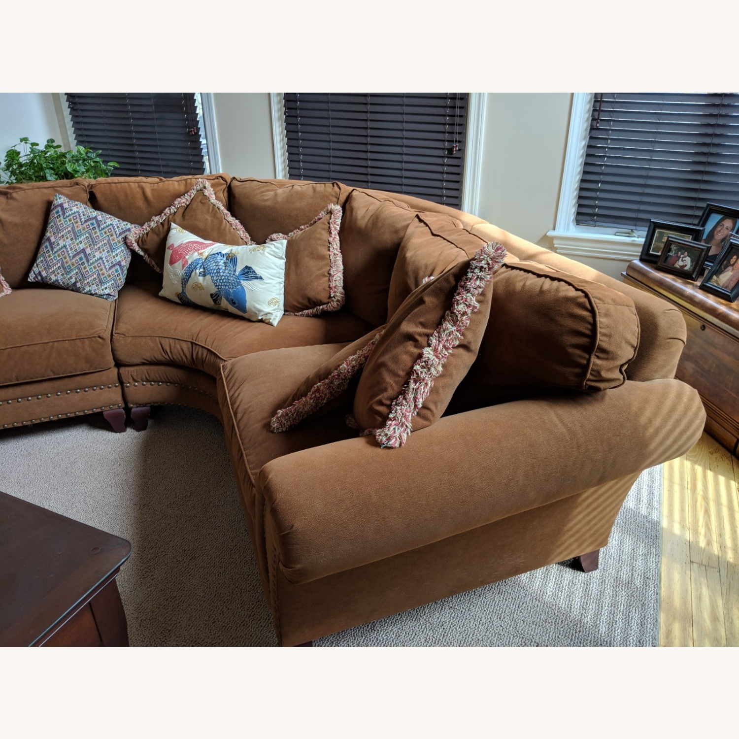 Faux Suede Rowe Couch - image-1