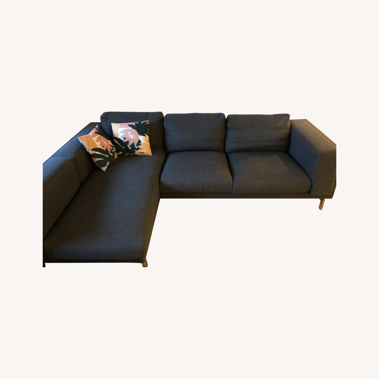 IKEA Nockeby Dark Grey Sectional - image-0