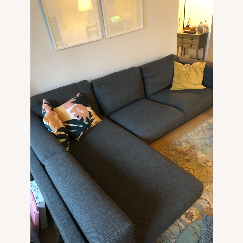 IKEA Nockeby Dark Grey Sectional - image-1