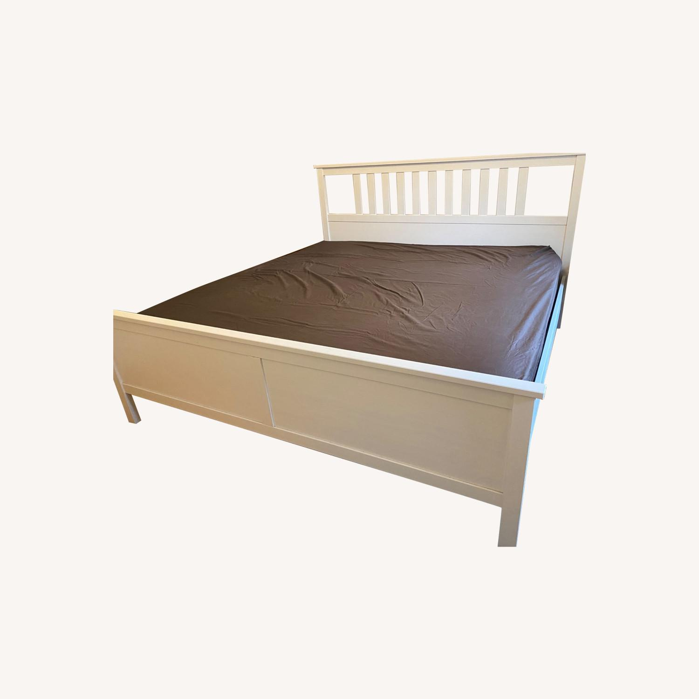 IKEA Hemnes White King Bed Frame - image-0