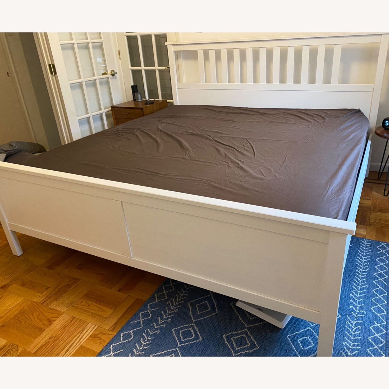 IKEA Hemnes White King Bed Frame - image-2