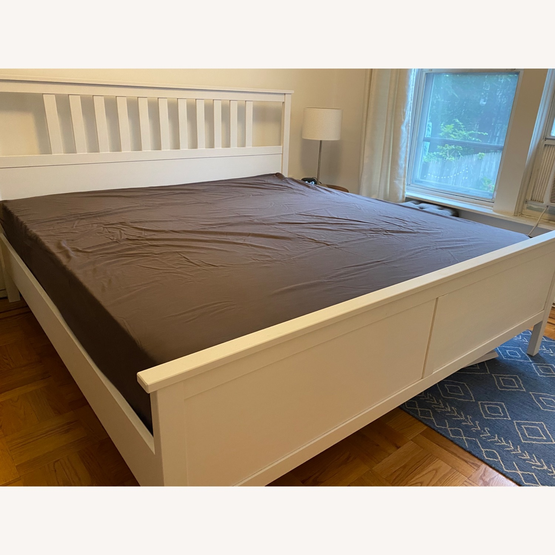 IKEA Hemnes White King Bed Frame - image-1