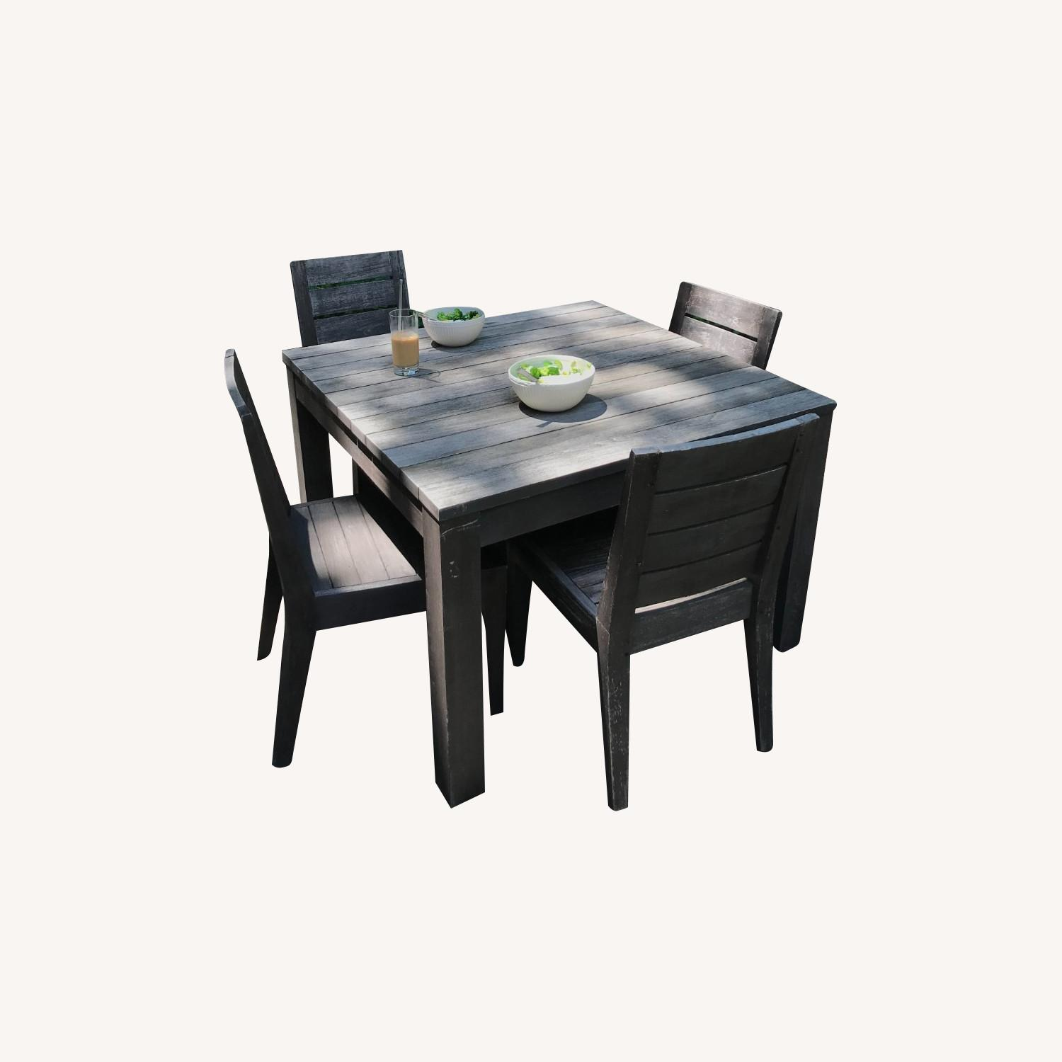 Restoration Hardware Teak Table and Side Chairs - image-0