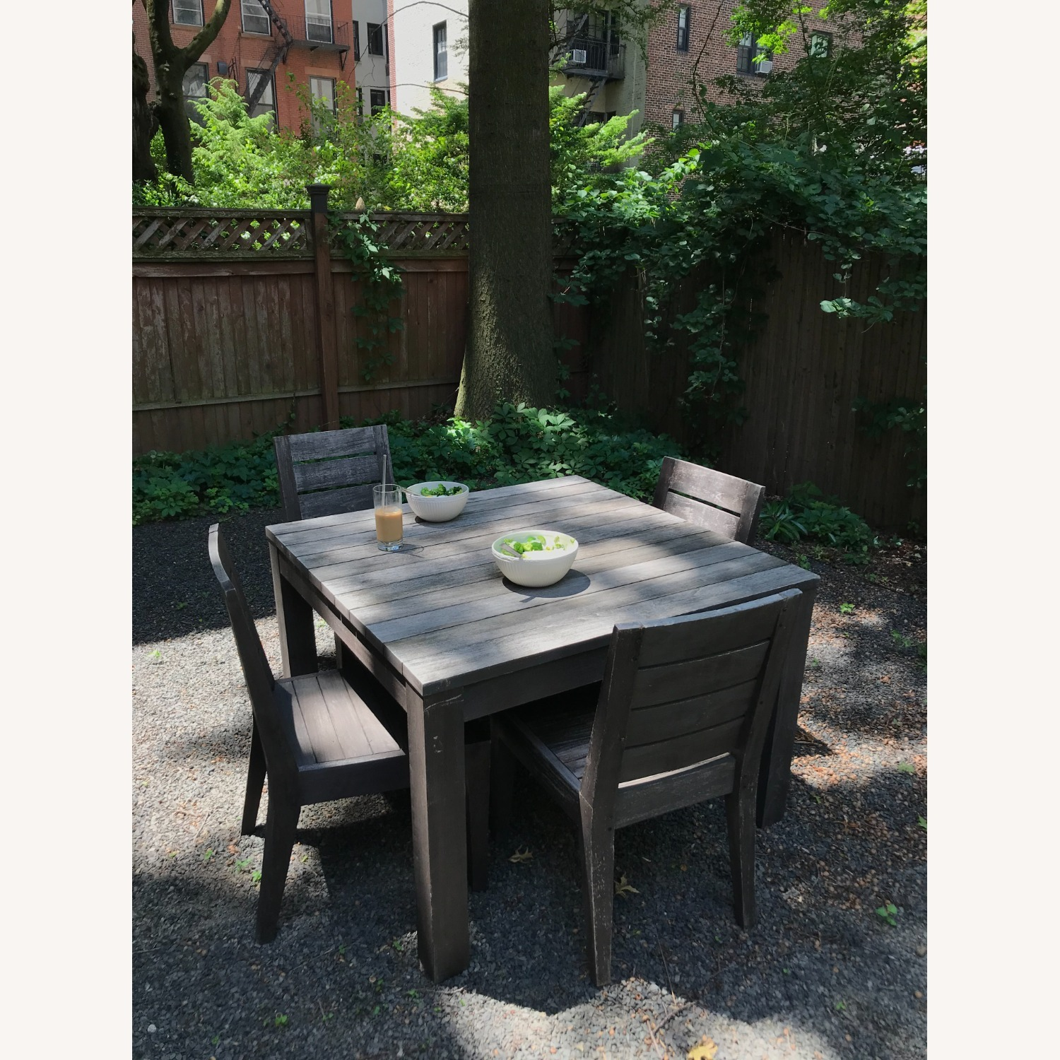Restoration Hardware Teak Table and Side Chairs - image-2