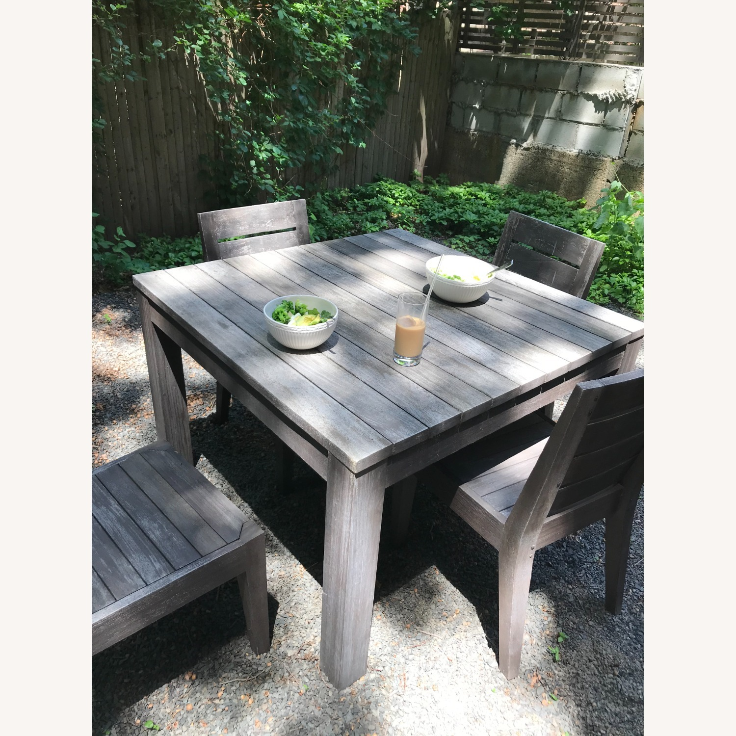 Restoration Hardware Teak Table and Side Chairs - image-1