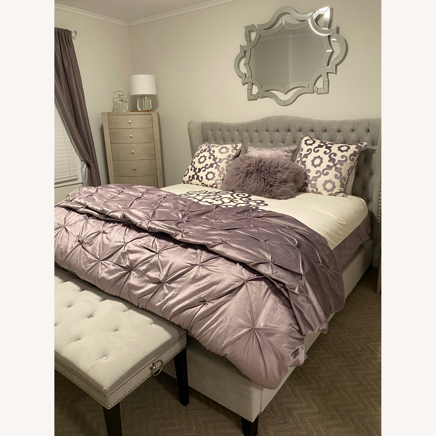 Z Gallerie Jameson King Bed, Gray - image-1