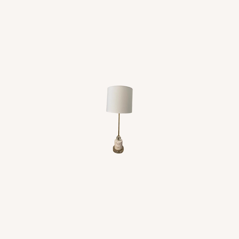 Cb2 Siena Lamp, Marble & Acrylic Base - image-0