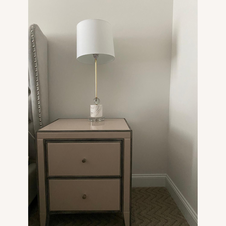 Cb2 Siena Lamp, Marble & Acrylic Base - image-1
