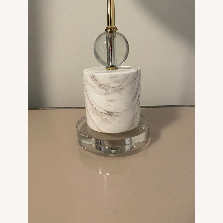 Cb2 Siena Lamp, Marble & Acrylic Base - image-2