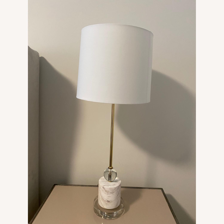 Cb2 Siena Lamp, Marble & Acrylic Base - image-3