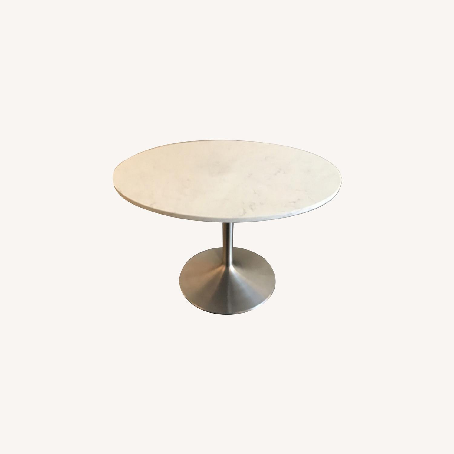 Room & Board Aria Marble Round Dining Table - image-0