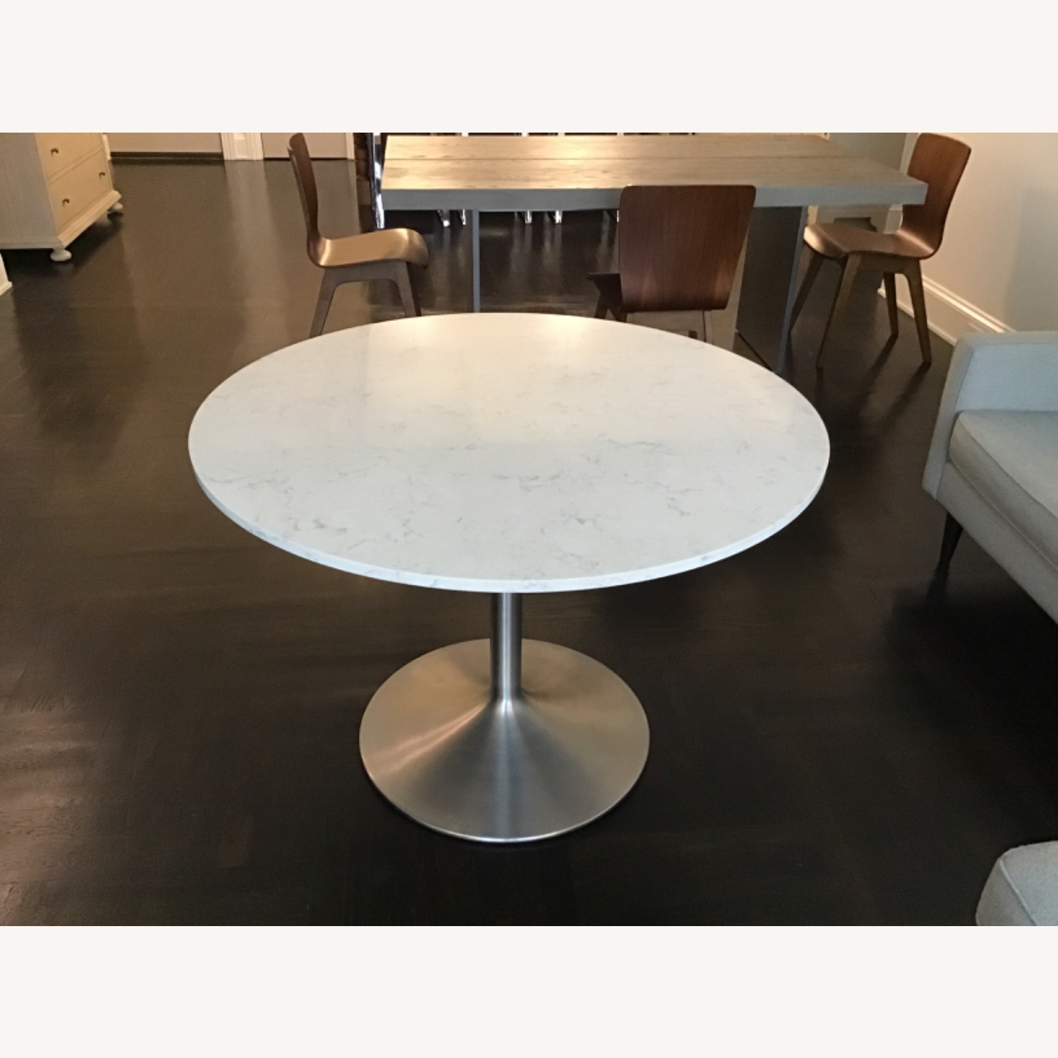 Room & Board Aria Marble Round Dining Table - image-1