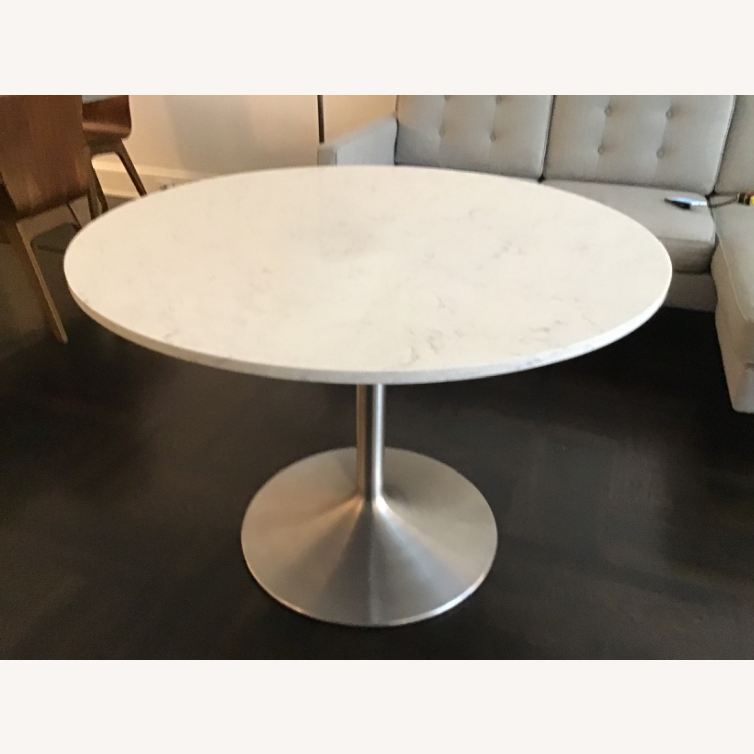 Room & Board Aria Marble Round Dining Table - image-3