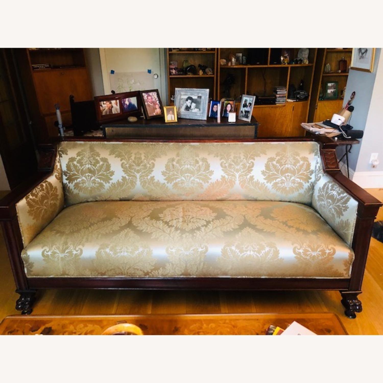 Elegant Antique Victorian Couch - image-1