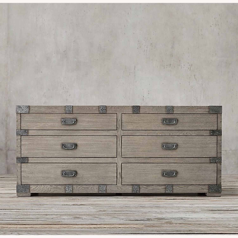 Restoration Hardware 6 Drawer Grey Wood Dresser - image-2
