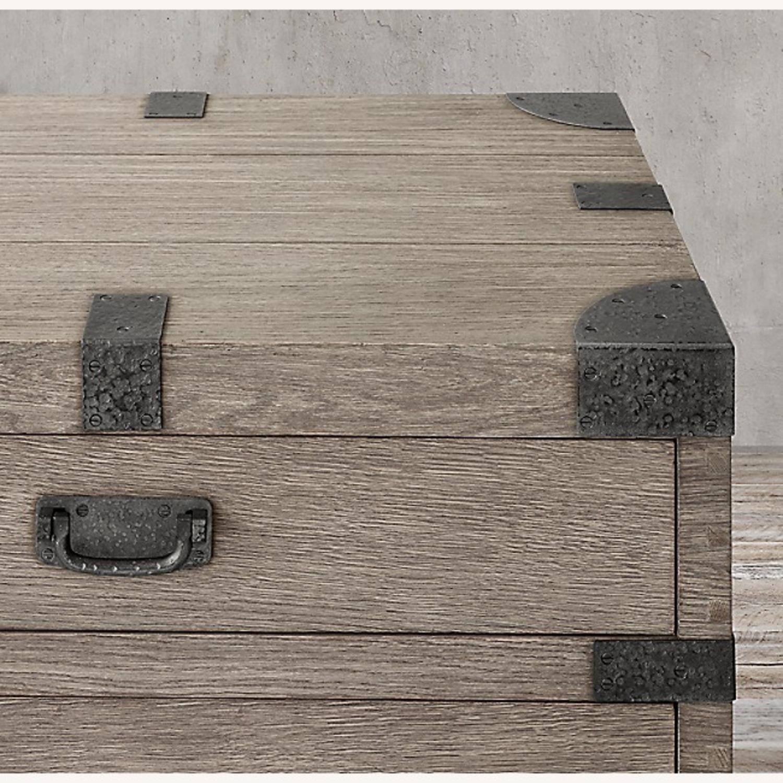 Restoration Hardware 6 Drawer Grey Wood Dresser - image-5