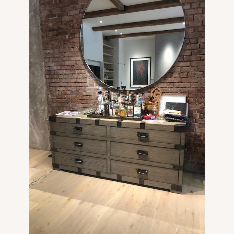 Restoration Hardware 6 Drawer Grey Wood Dresser - image-4
