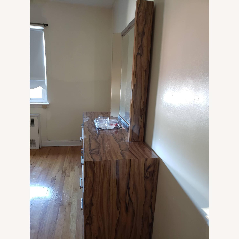 Italian Formica Bedroom set- Credenza with Mirror - image-2