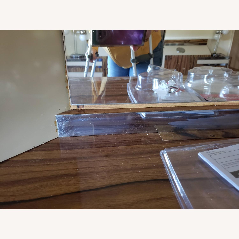Italian Formica Bedroom set- Credenza with Mirror - image-4