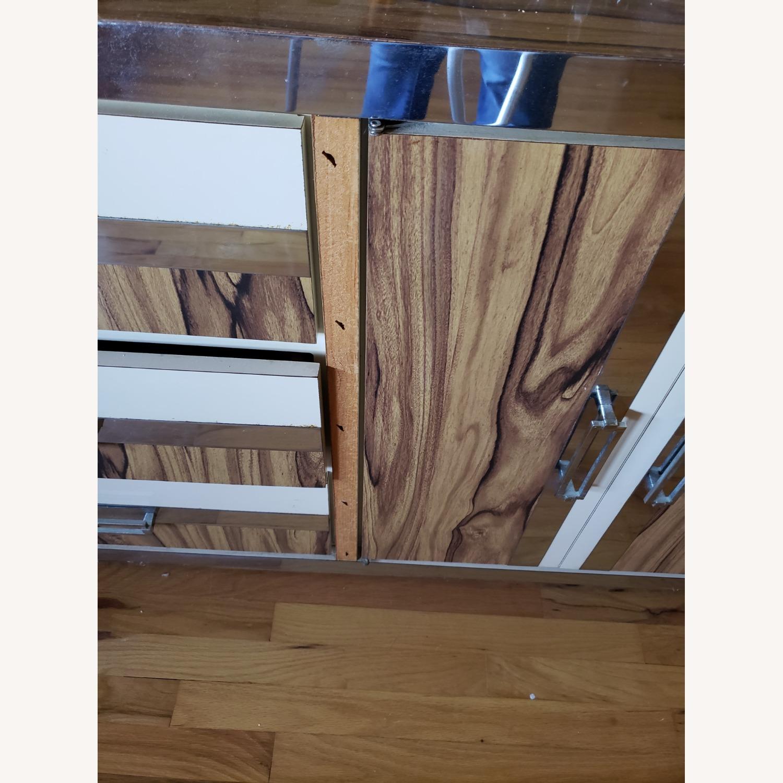 Italian Formica Bedroom set- Credenza with Mirror - image-3