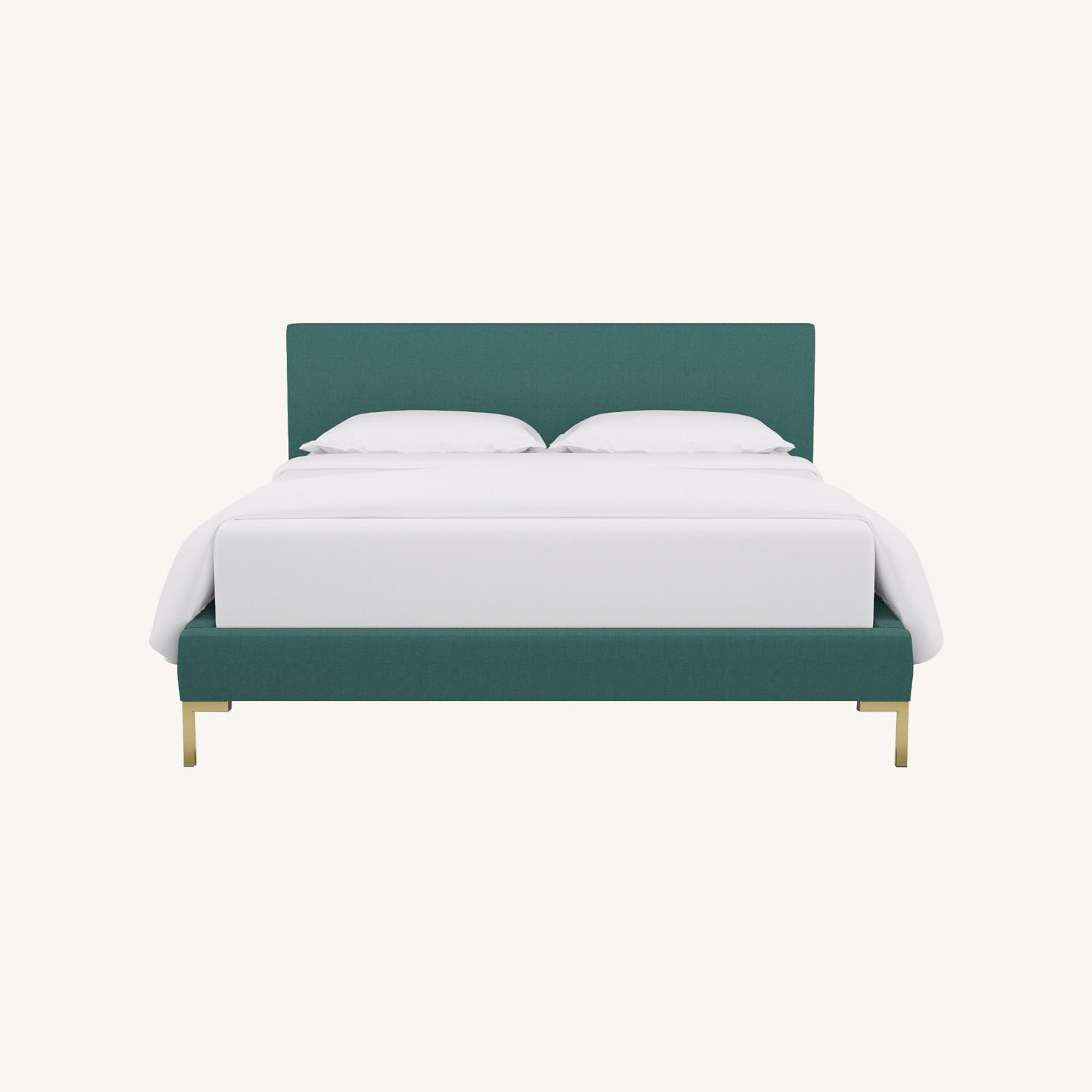 Modern Teal Green Bed - image-0