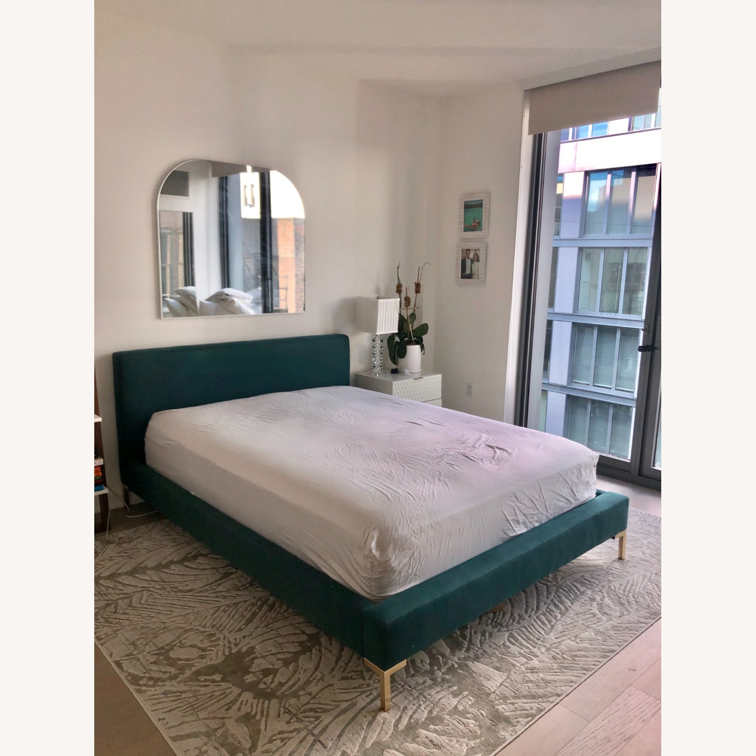 Modern Teal Green Bed - image-1
