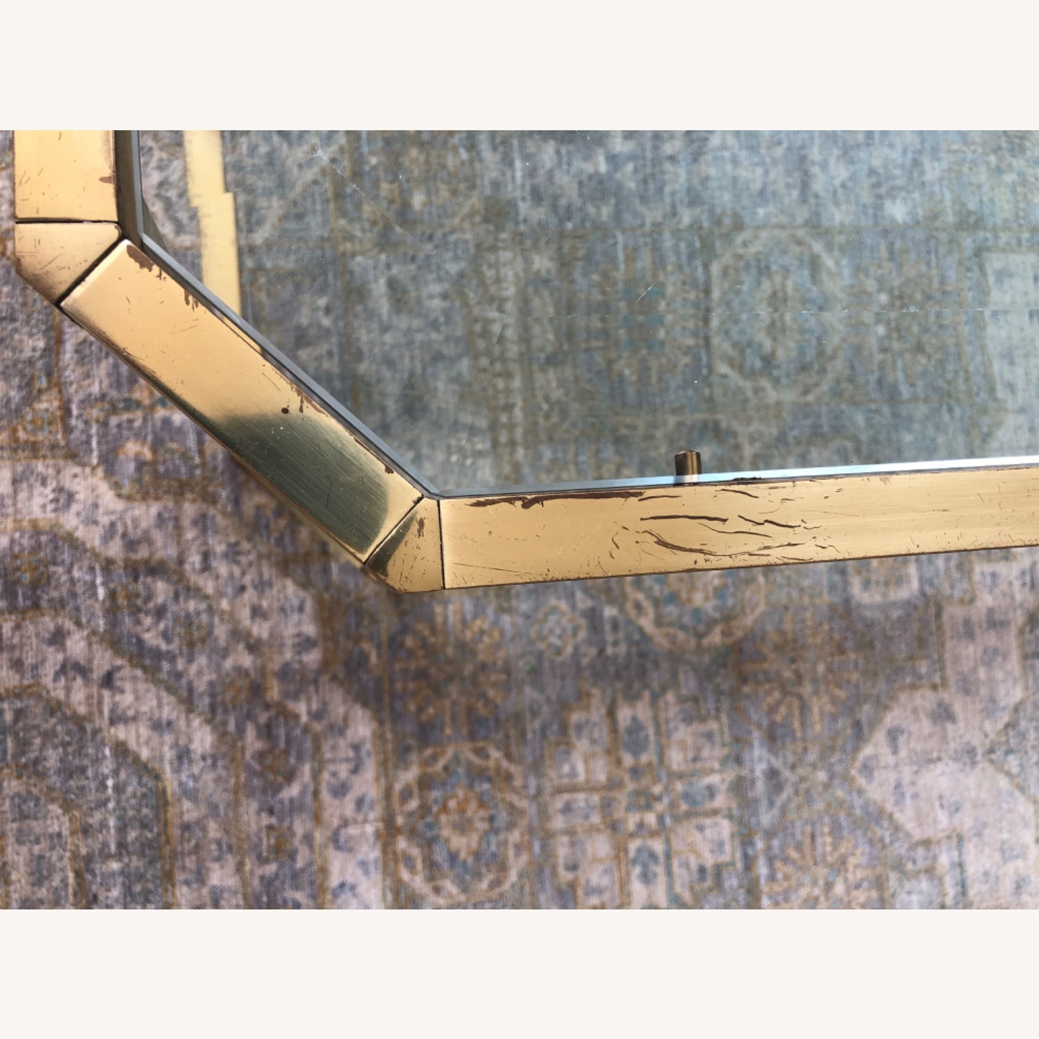 French 1960s Brass & Glass Coffee Table - image-5