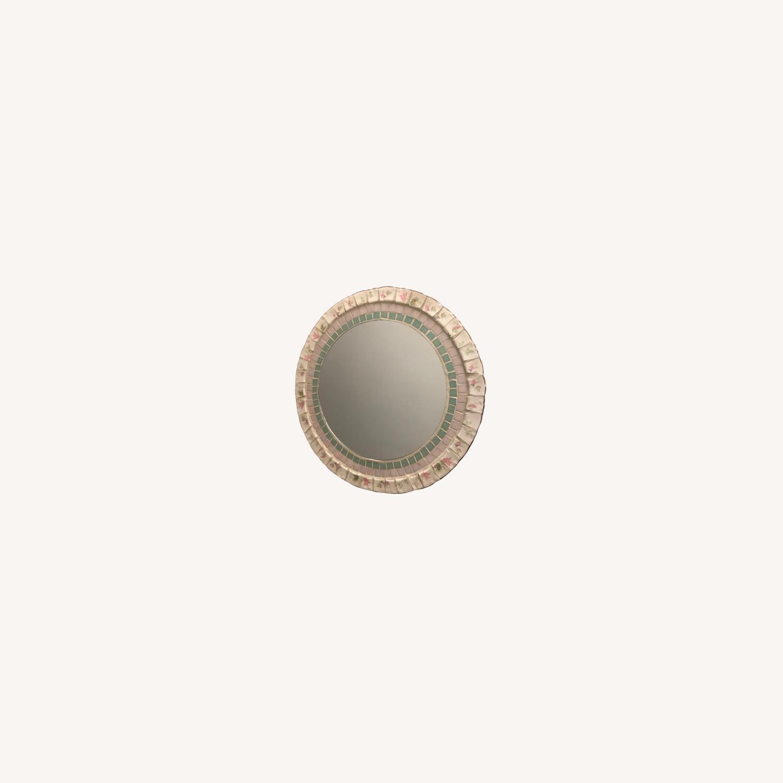 Vintage/Antique Stone Mirror - image-0