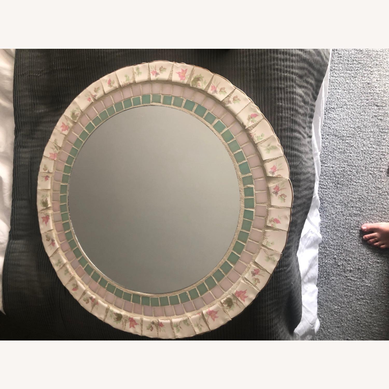 Vintage/Antique Stone Mirror - image-1