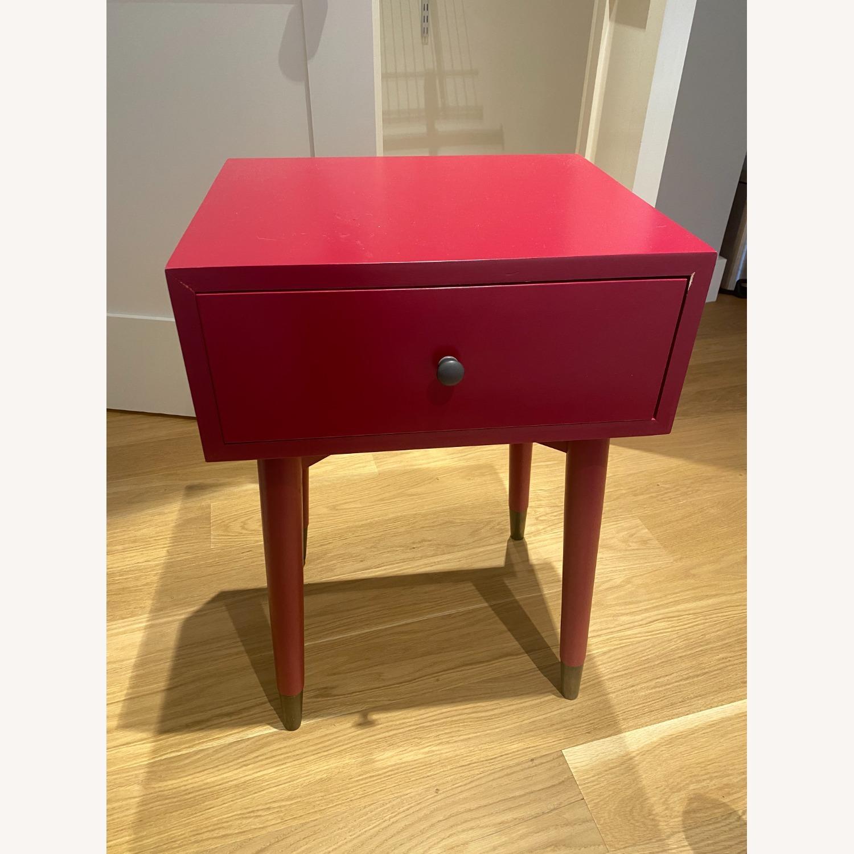 Magenta Scandinavian Side Table - image-1