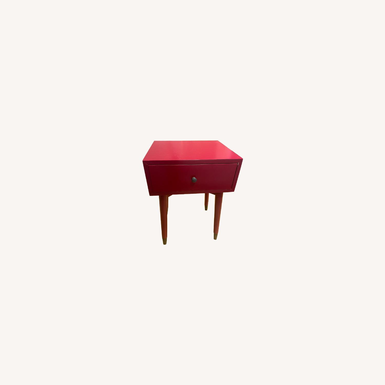 Magenta Scandinavian Side Table - image-0