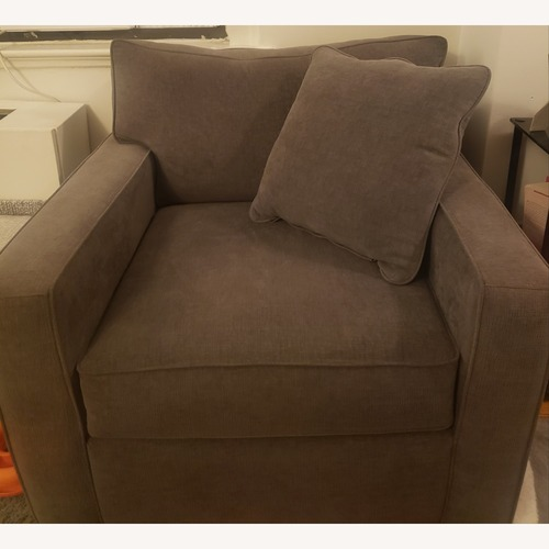 Used Macy's Gray Chair and a Half for sale on AptDeco