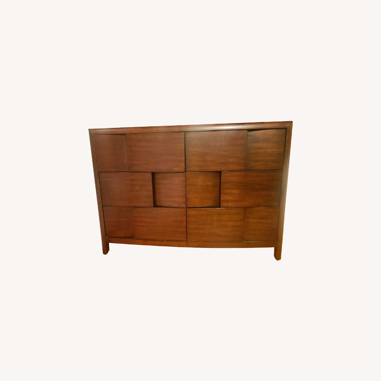 Raymour & Flanigan 6 Drawer Mahogany Dresser - image-0