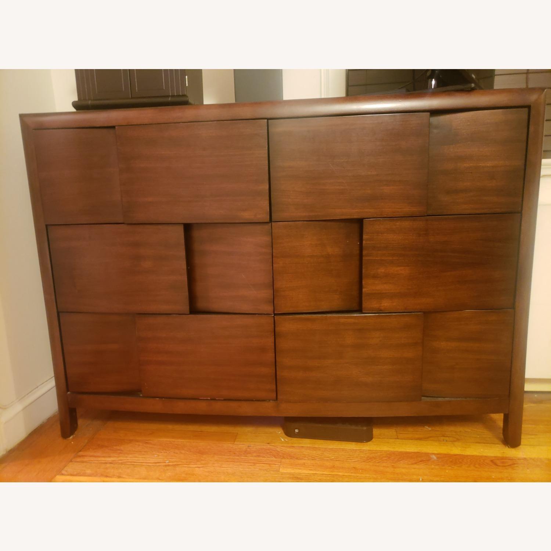 Raymour & Flanigan 6 Drawer Mahogany Dresser - image-4