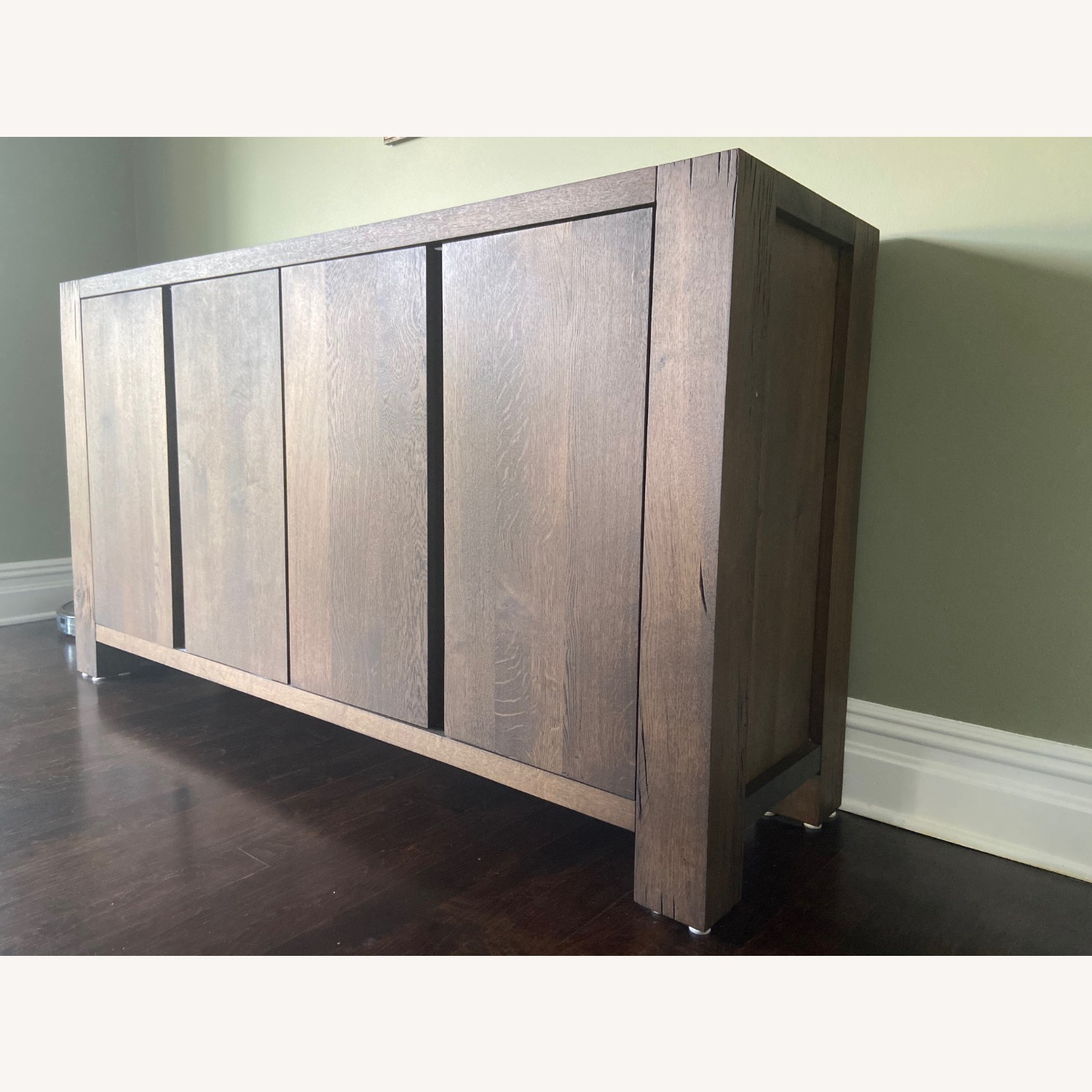 Crate and Barrel Charcoal Color Sideboard - image-2