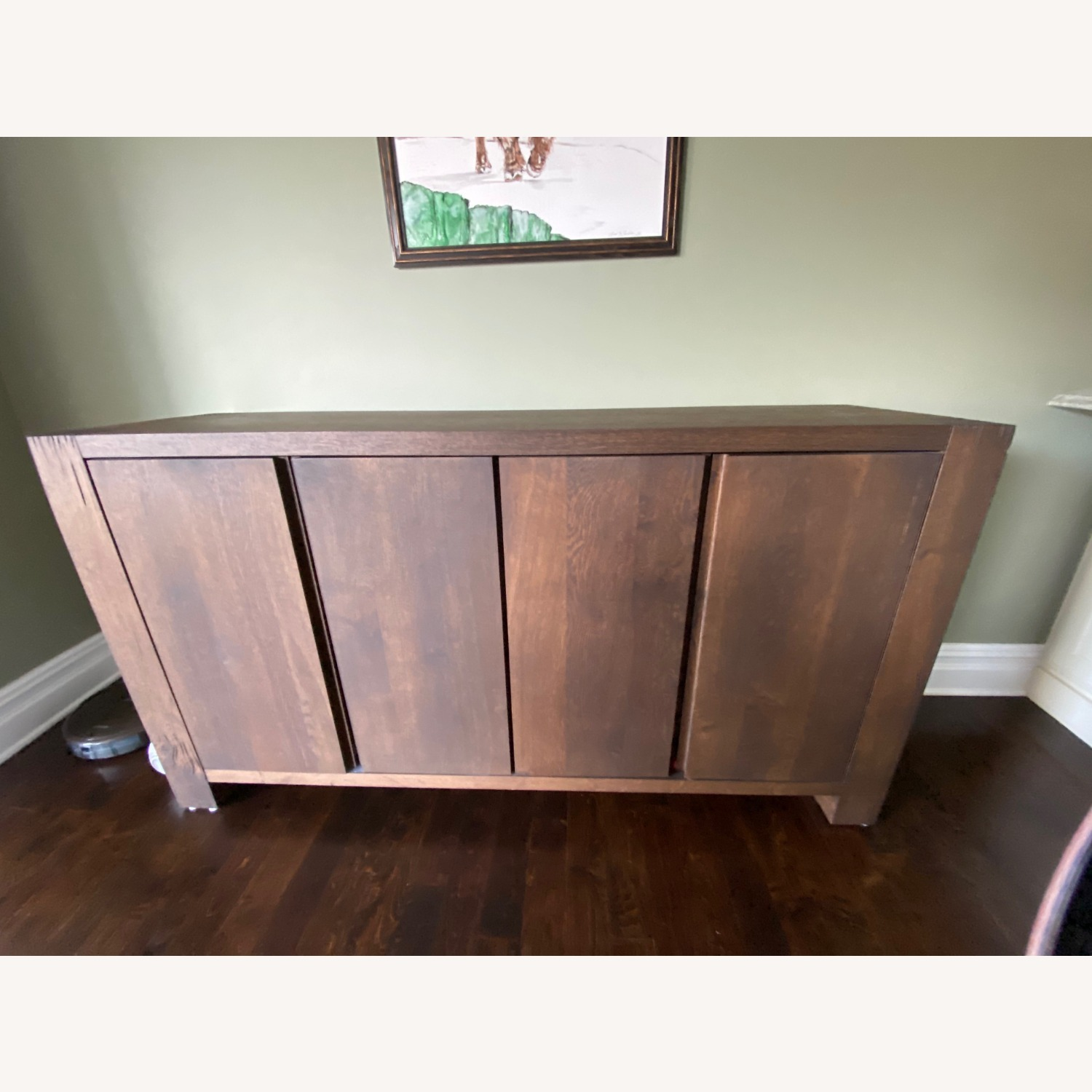 Crate and Barrel Charcoal Color Sideboard - image-1