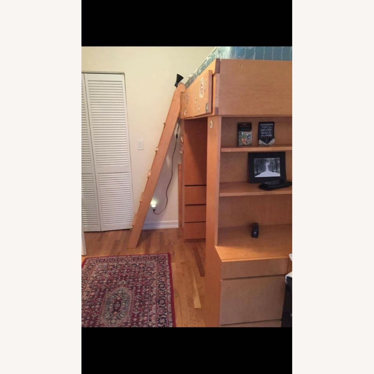 Gothic Cabinet Craft Loft Bed with Desk and Dresser - image-2