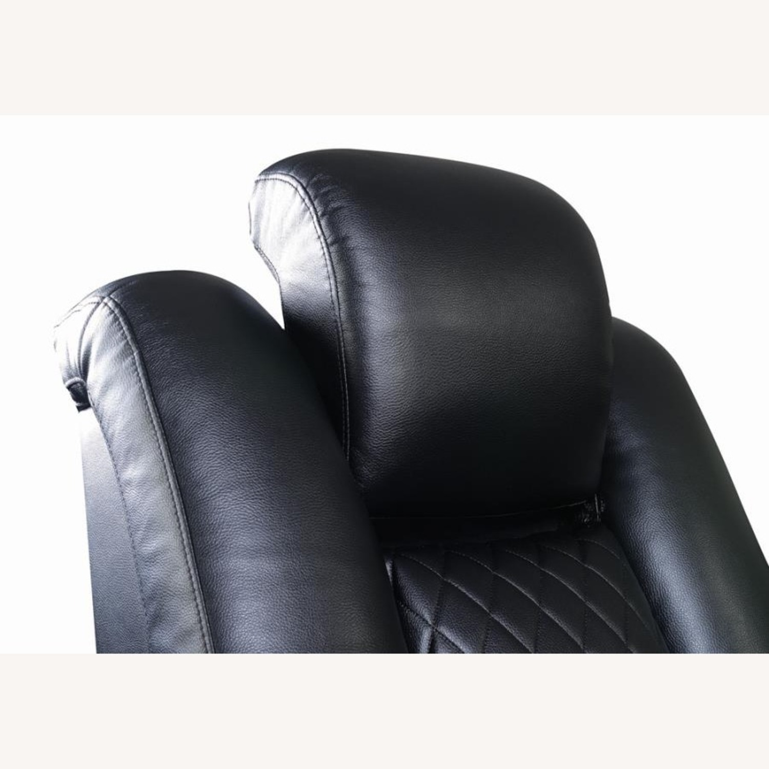 Power Loveseat In Black Performance Leather - image-7