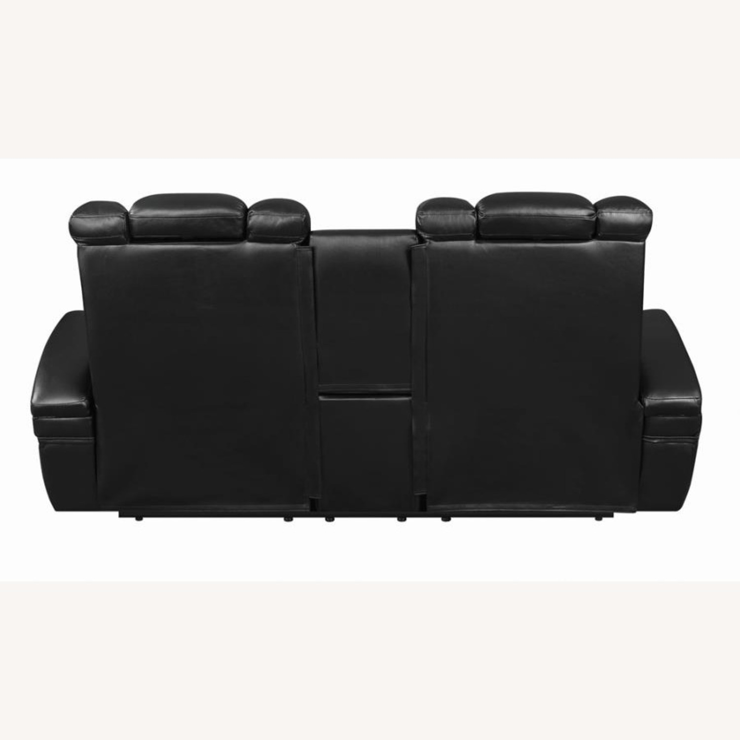 Power Loveseat In Black Performance Leather - image-3