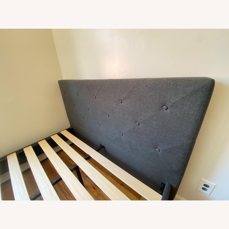 Zinus Upholstered Diamond Stitched Platform Bed - image-1