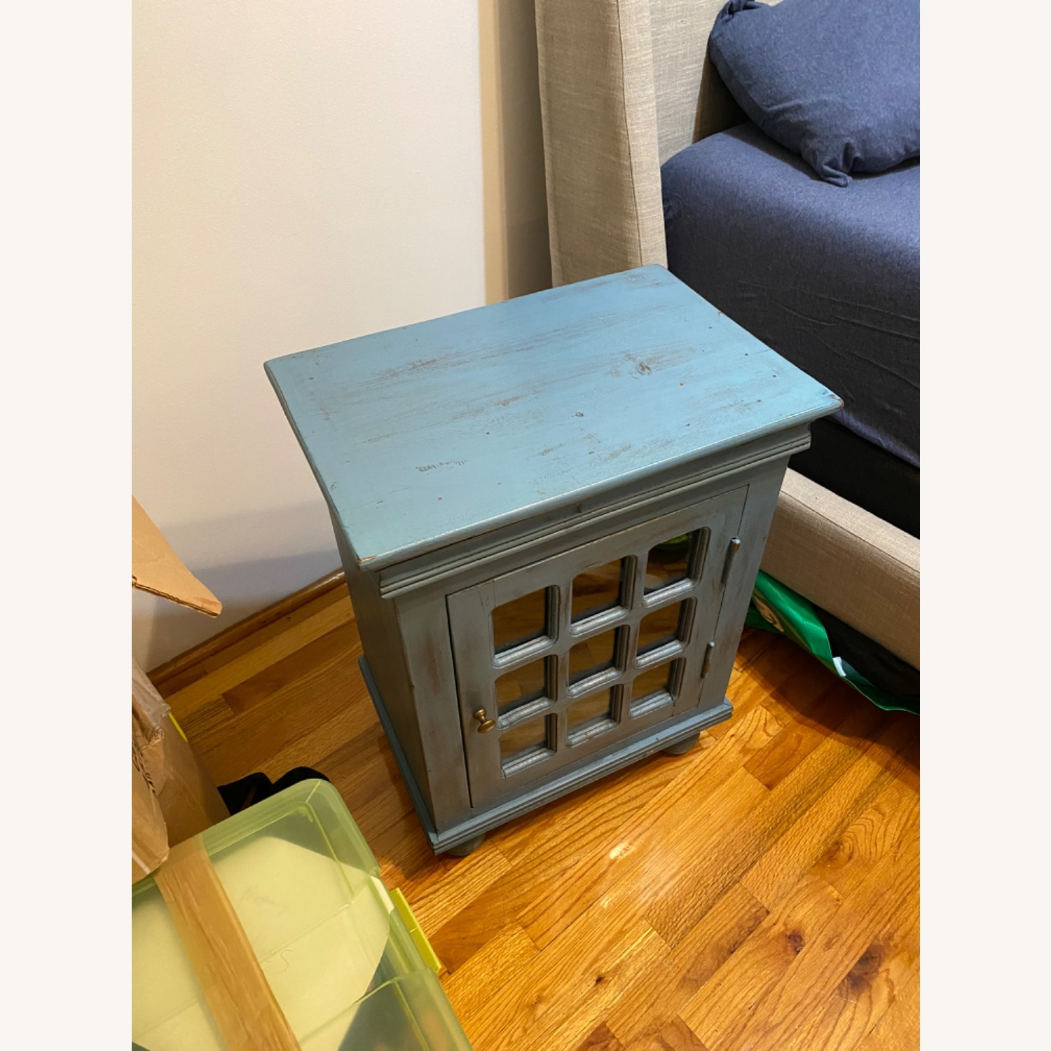 Nadeau Furniture Shabby Nightstand With Storage Cabinet - image-2
