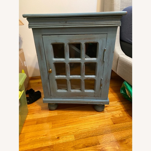 Used Nadeau Furniture Shabby Nightstand With Storage Cabinet for sale on AptDeco