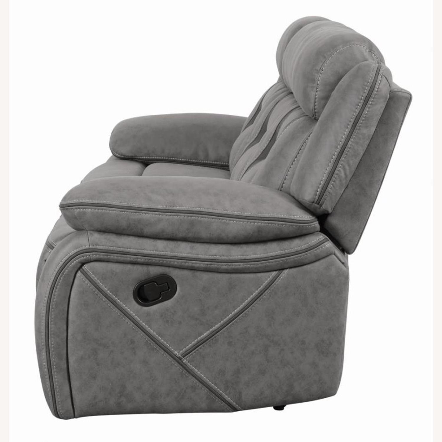 Motion Sofa In Grey Suede W/ Wall Hugger Mechanism - image-2