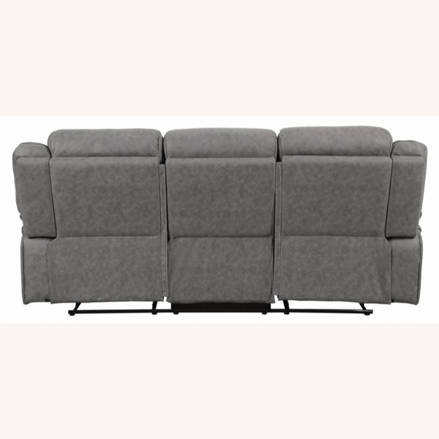 Motion Sofa In Grey Suede W/ Wall Hugger Mechanism - image-3