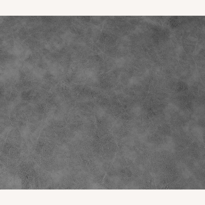 Motion Loveseat In Grey Suede W/ Wall Hugger - image-5
