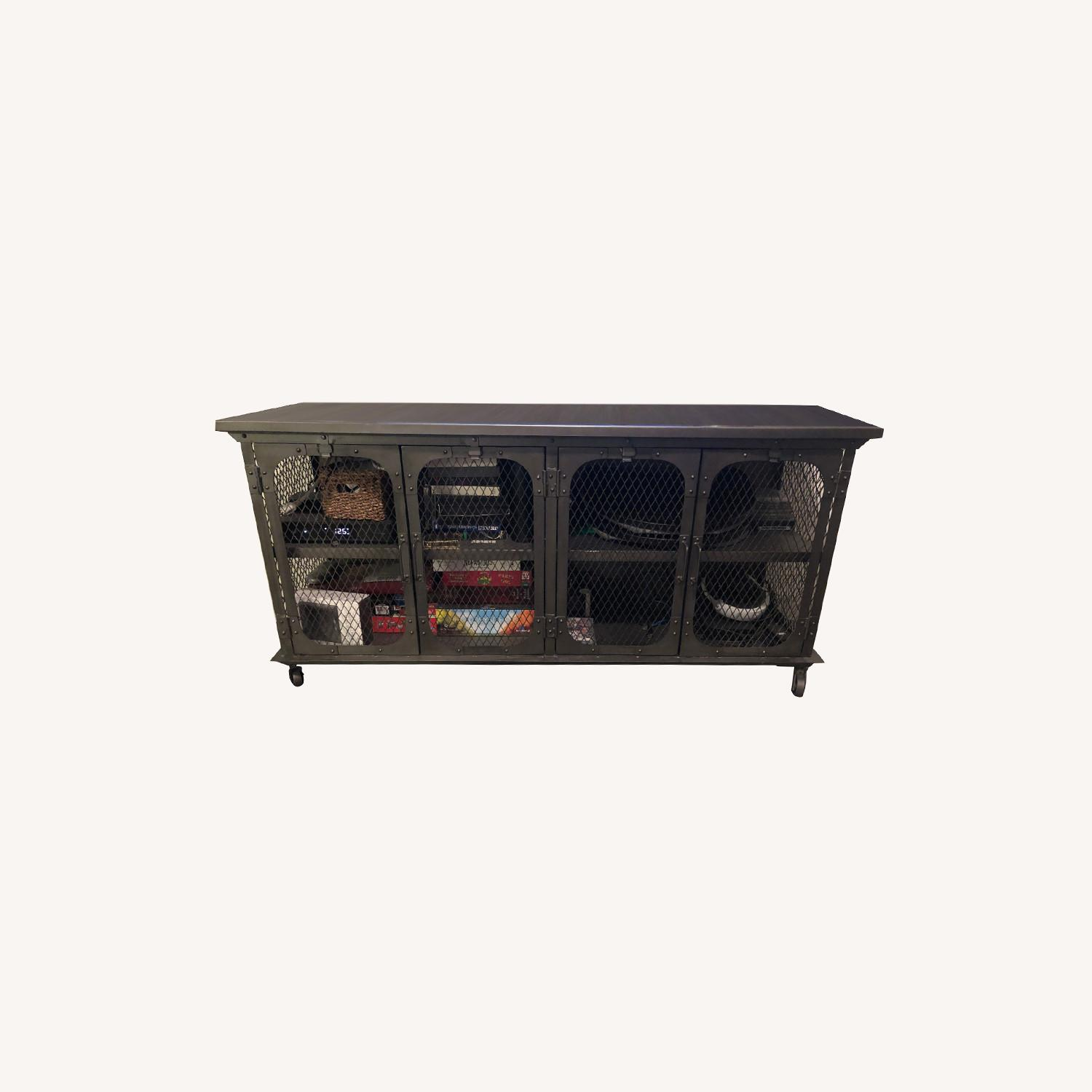 World Market Industrial Style Media Console - image-0