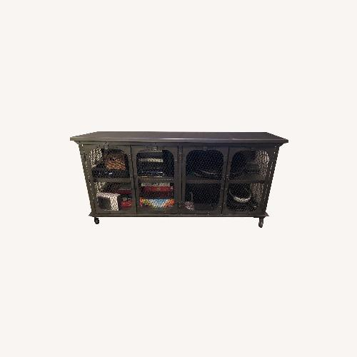 Used World Market Industrial Style Media Console for sale on AptDeco