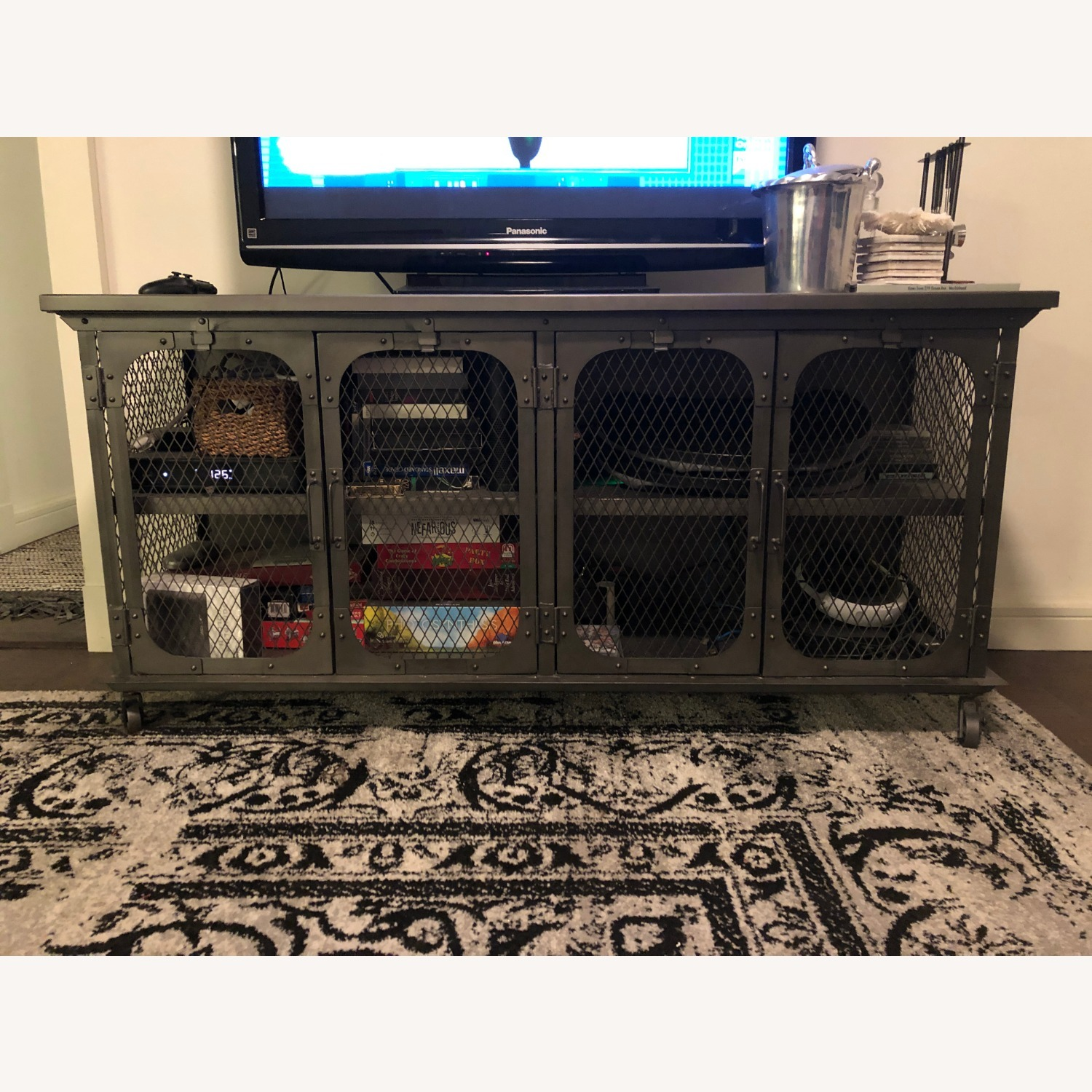 World Market Industrial Style Media Console - image-2