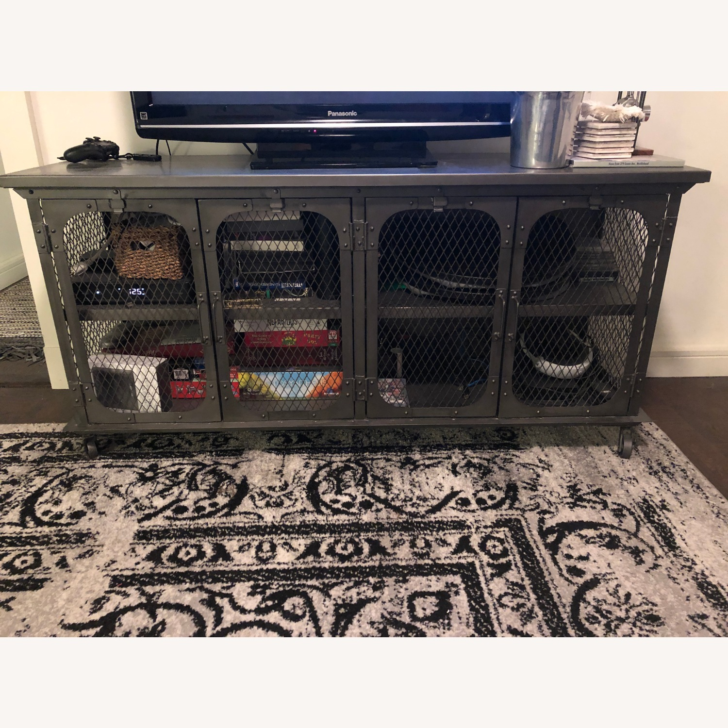 World Market Industrial Style Media Console - image-1