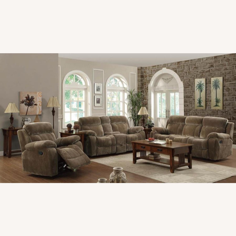 Motion Sofa In Mocha Textured Velvet Fabric - image-5